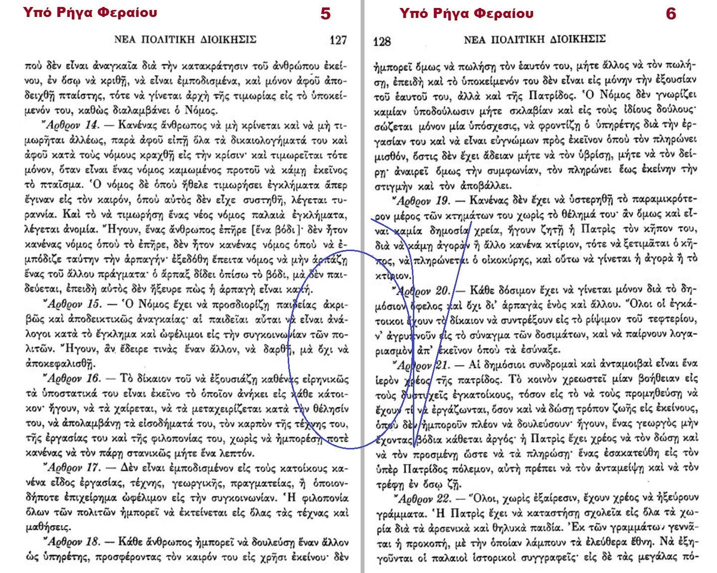 ΝΕΑ ΠΟΛΙΤΙΚΗ ΔΙΟΙΚΗΣΙΣ ΡΗΓΑ ΦΕΡΑΙΟΥ 5-6